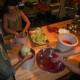 Making sauerkraut at Full Bloom