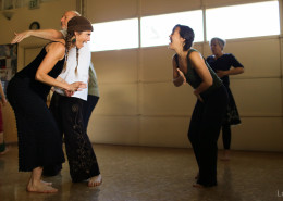 An ecstatic dance class in Ashland, Oregon