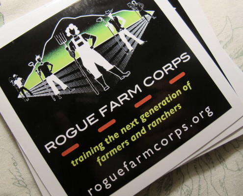 A flyer for Rogue Farm Corps